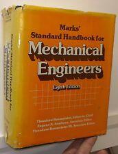 Marks' Standard Handbook of Mechanical Engineering, 8th  ed., 1978 - V.Good+