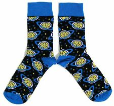 Para Hombre Pizza Saturn Fast Food planetas astro calcetines UK 6-11/EUR 39-45/US 7-12