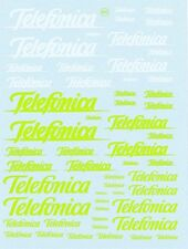 Decal 1/43 - 1/32 - 1/24  MARCHI TELEFONICA  Virages 241