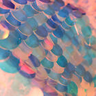 18mm Sequins Iridescent Sparkly Embroidery Sequin Fabric Multicolor sold by Yard