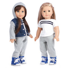 Tomboy - Doll Clothes for 18 American Girl Doll Jacket Sweatpants T-shirt Boots