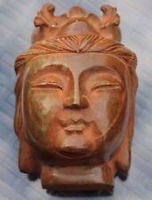 belle tète de bouddha en pierre agate