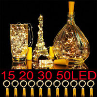 20 30 50 LED Copper Wire Wine Bottle Cork Shape Fairy String Light Xmas Decor CA