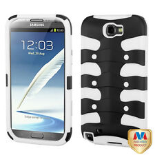 FOR SAMSUNG Galaxy Note II 2 WHITE BLACK FISHBONE protector skin Cover CASE