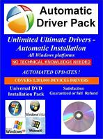 Easy Automated Driver Installation drivers Pack compatible with Win 32 & 64 bit