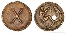 Roman Spintria Brothel Entry Token X Bronze