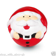 Red Father Christmas Anti Stress Ball TOY RELIEVER NOVELTY SANTA STOCKING FILLER
