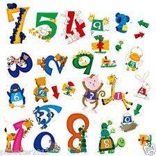 0-9 Animal Numbers Removable Wall Sticker Home Kids Early Learning Nursery