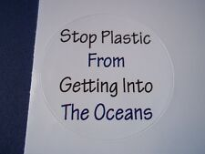 Stop Plastic from getting into the Oceans stickers (4).