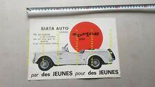 SIATA Spring 850 1967 depliant originale FRANCESE auto brochure