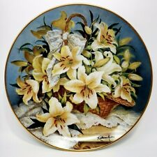 Princess Gracia Lily Plate by Franklin Mint Collector Plate 1990