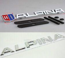 BMW ALPINA GRILLE GRILL BADGE + ALPINA REAR BADGE SET LOGO EMBLEM E30 E40 E90