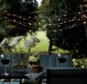"Hampton Bay 50-Lt 6.10"" Solar Outdoor Integrated LED Copper String Light Set"