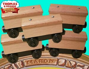 SET OF 5 ~THOMAS & FRIENDS WOODEN RAILWAY ~ CREATE YOUR OWN BOX CARS CARS