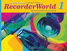 "PAM WEDGWOOD'S ""RECORDER WORLD 1"" MUSIC BOOK/CD-BRAND NEW ON SALE-EXTREMELY RARE"