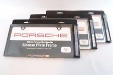 Genuine Porsche Slimline License Plate Frame w/Hardware Black, Polished, Brushed