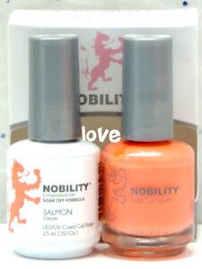 LECHAT NOBILITY LED/UV GelColor & Free Nail Polish Set NBCS154- Salmon
