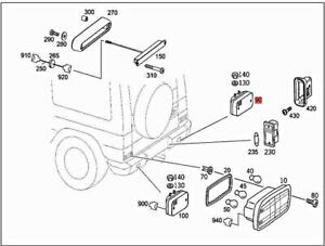 Genuine MERCEDES W463 G-CLASS Cabrio Reversing Lamp 0009065004