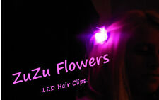 3-Pack PURPLE Clip-in LED Lights - Flower Lites for Hair - Neon Party Favor