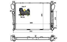 NRF Radiador, refrigeración del motor MERCEDES-BENZ SL CLASE S 58366