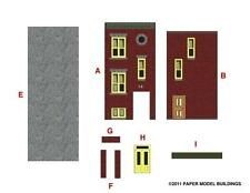 (150) PAPER MODEL BUILDINGS - N Scale Cut Out Cardstock Railroad 3D HO SCHOOL CD