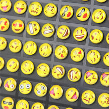 36pairs Cute Yellow Faces Earring Set Round EMOTICONS Emoji Ears Studs RS