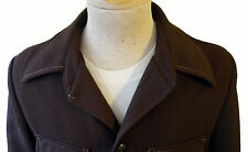 VINTAGE 70s Leisure suit jacket cowboy flare collar brown polyester sears large