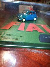 Fiat 500 ECO blau Modellauto Diorama Altaya 1:43 (219)