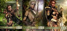 Elf Warrior Pack Custom Altered Tokens MTG (3-D Art) Magic Origins