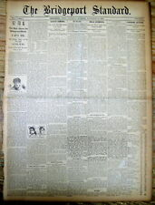 <1895 display newspaper EARLY YALE PRINCETON FOOTBALL front page IVY LEAGUE