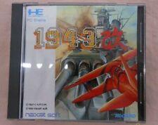 PC Engine 1943 Kai Hu Card Boxed NEC CAPCOM Limited Rare Japan
