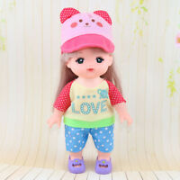 Baby Doll Clothes for Mellchan Doll Jumpsuit Hat for Girl Christmas Gifts