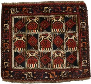 Handmade Vintage Tribal Floral 2'2X2'5 Small Square Oriental Rug Wool Carpet