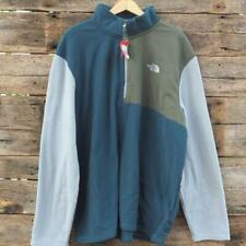 The North Face Fleece Soft Shell Jacket Blue Gray Mens Size XXL NWT