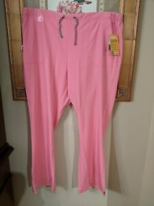 New Lot of 2 Pairs of Pink Carhartt Women's Cross Flex Utility Scrub Pants 2XL
