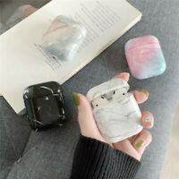 Marble Pattern Protective Case Cover Bag Shell For Apple AirPods 1 2
