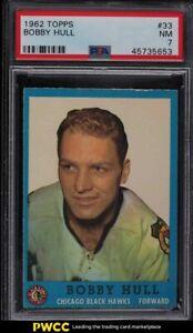 1962 Topps Hockey Bobby Hull #33 PSA 7 NRMT
