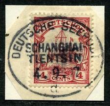 Kiautschou Mi 20 Kab.-Briefstück  Seepost  Shanghai-Tientsin d    Arge 400,-