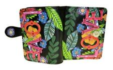 SHAGWEAR Wallet Black Snap Tab French Purse Small Wallet ~ LOVE Floral Design