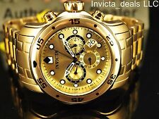Invicta Men's 48mm PRO DIVER Scuba Chronograph Gold Dial Stainless Steel Watch