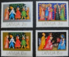 Christmas 1992 stamps, Latvia, Angels, kings, children, SG ref: 363-366, MNH