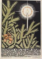 Russian World War 1 Poster Christmas 1915 11x8 Inch Reprint