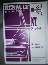 Schémas électriques ESPACE 4 2001 2002 NT8174