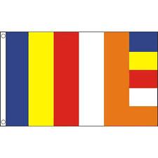 Buddhism Flag 5Ft X 3Ft Buddhist Religion Buddha Banner With 2 Eyelets New