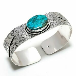 Tibetan Turquoise Handmade Gemstone Ethnic Gift Cuff Bracelet Adjustable e679