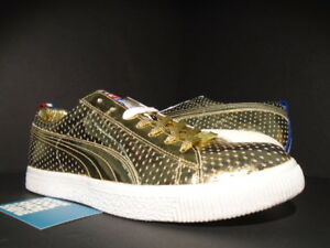 PUMA CLYDE x UNDFTD GAMETIME PROMO UNDEFEATED GOLD RED WHITE BLUE 354273-01 9.5