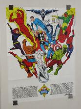 Marvel 1973 Foom poster 1:Iron Man/Thor/Captain America/Avengers/Spider-man/Hulk