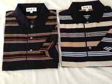 2 New NWT Mens Black L Pringle Polo Style Golf Shirts withPringle Sleeve Logo
