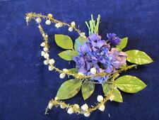 "Vintage Millinery Flower Collection 1"" Purple Violets German H2255"