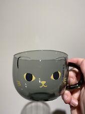 More details for starbucks 2020 halloween black cat glass mug 12oz limited edition